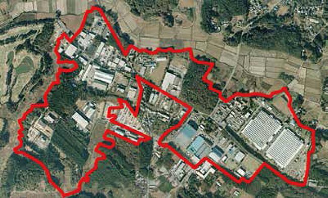 加茂工業団地 上空写真