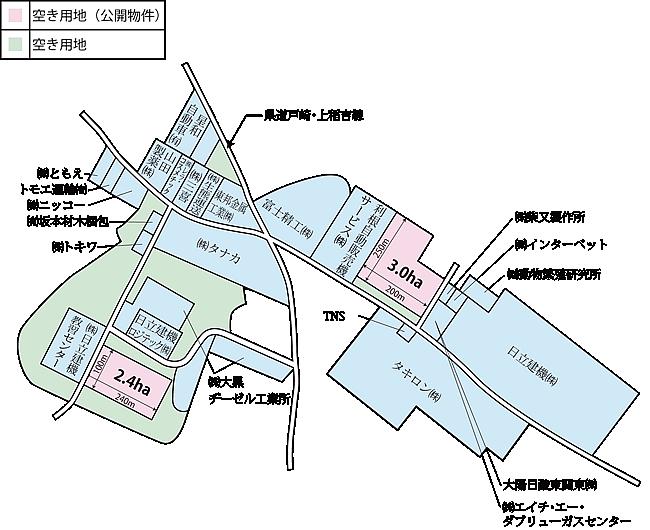 加茂工業団地 区画図