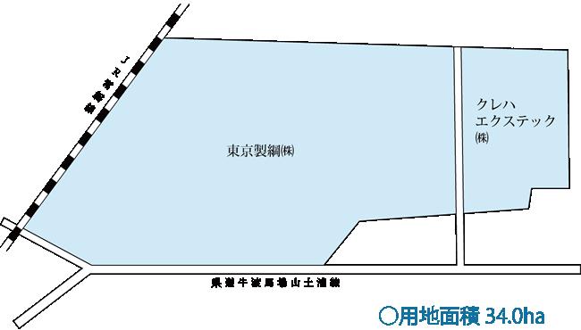 天神工業団地 区画図