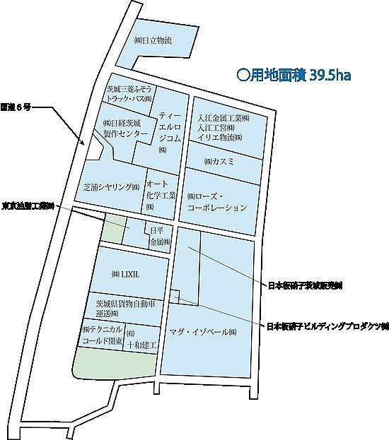 土浦・千代田工業団地 区画図