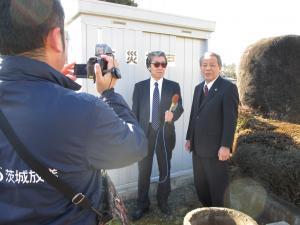 『茨城放送防災一口メモ収録』の画像