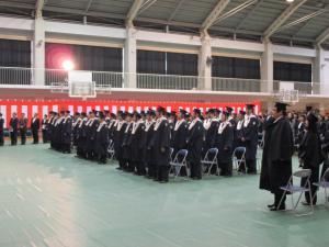 東風高校卒業式2