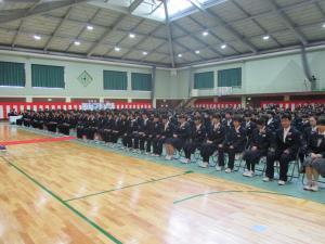 中学校卒業式1