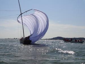 『観光帆引き船操業』の画像