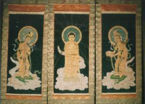『絹本著色阿弥陀三尊来迎図』の画像