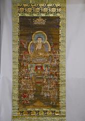 『絹本著色釈迦十六善神図』の画像