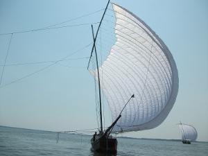 『帆引き網漁法の漁具』の画像
