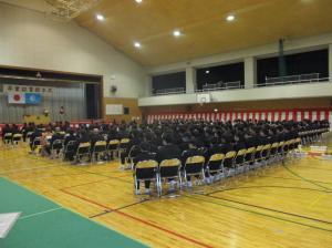 千代田中卒業式2