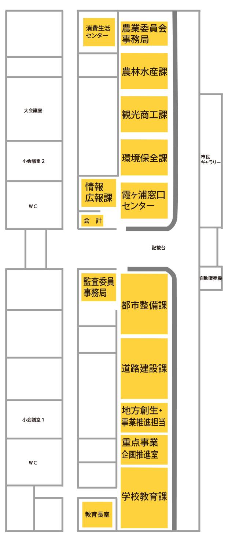 『霞ヶ浦庁舎配置図(H29)』の画像