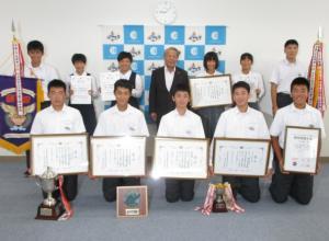 『中学生表敬訪問』の画像