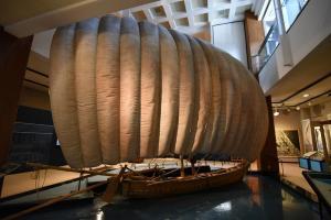 博物館1階帆引き船1