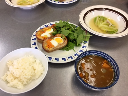 【記事】291126高校生会 料理、キャンドル5