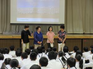 『下稲吉中出前講座(1) 男女共同参画推進協力委員あいさつ』の画像