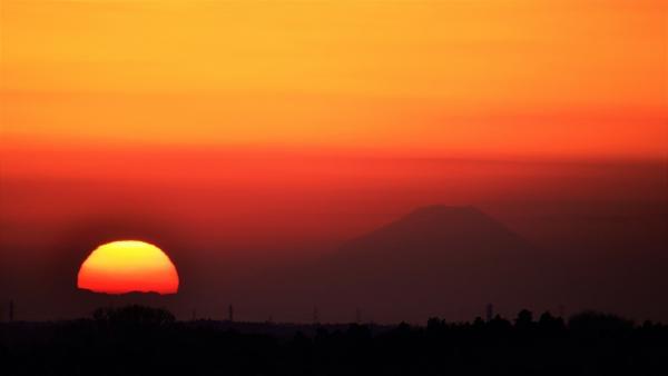 『夕日富士』の画像