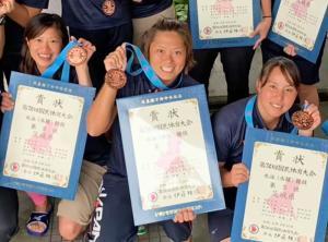 池田選手 水球女子3位1