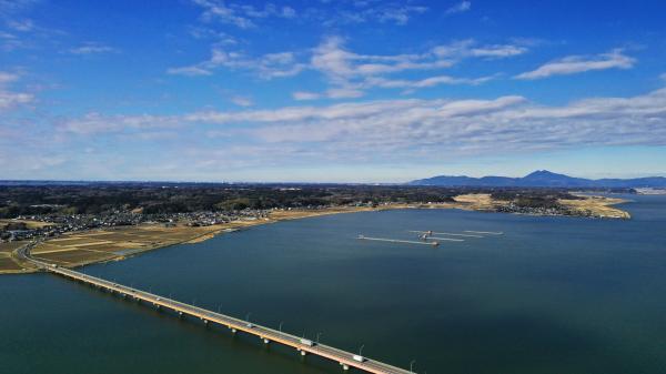 大橋と筑波山