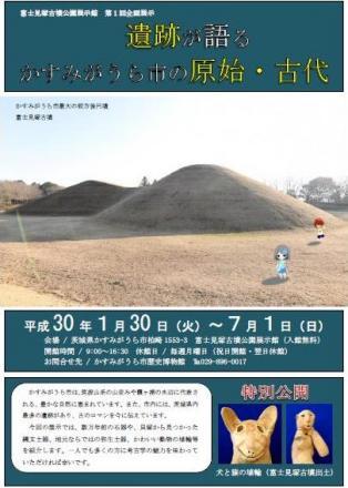 『富士見塚古墳公園展示館 第1回企画展のご案内』の写真