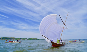 帆引き船の画像