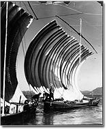 八郎潟が干拓される前の打瀬船