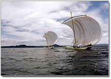 『第18回八郎湖ウォーターフェスティバルでの観光うたせ船の画像』の画像